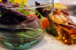 Quiche salad